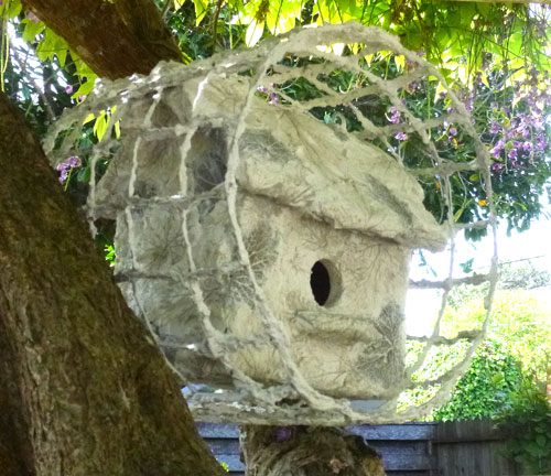 Concrete Paint on Bird House Halo